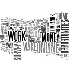 What are the ways to work at home and make money vector