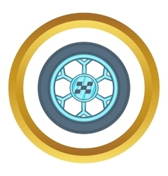 Wheel from racing car icon vector image