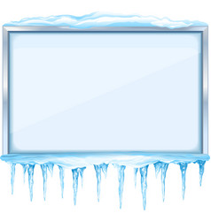 Winter Board with Icicles vector image
