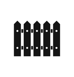 Wooden fence icon simple style vector