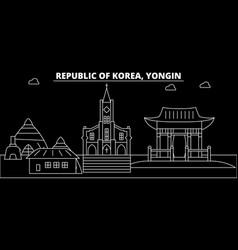 Yongin silhouette skyline south korea - yongin vector