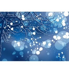 Christmas Winter Background vector image vector image