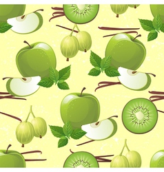 green fruits seamless vector image vector image