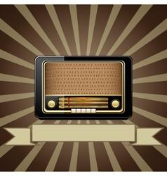 old radio vector image vector image