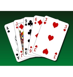 Poker hand - High card vector image vector image