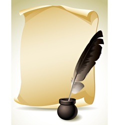 Quill Pen vector image vector image