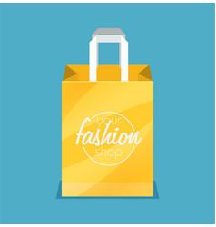 shopping bag flat icon vector image