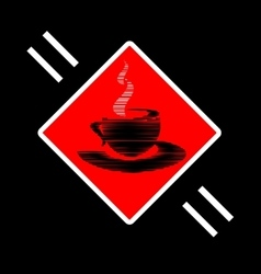 abstract sign of cup vector image
