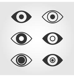 Eye icons set flat design vector image