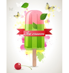 ice lolly background vector image vector image