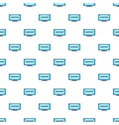 Support word on the computer monitor pattern vector image