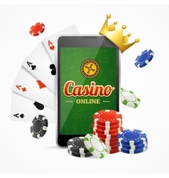 Casino online mobile concept vector