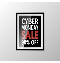 Cyber monday sale banner isolated on white vector image vector image