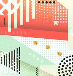 Geometric symbols background memphis for fashion vector image vector image