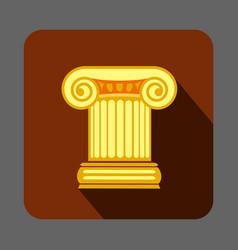 greek column concept background cartoon style vector image