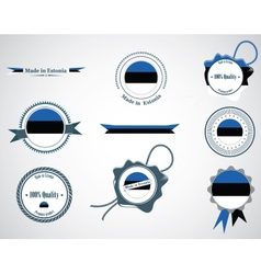 Made in Estonia - set of seals badges vector image
