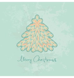 Merry Christmas card with Christmas tree vector image