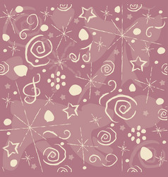 seamless pattern with music elements and other vector image