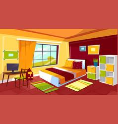 teenager bedroom cartoon of vector image