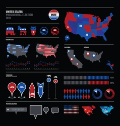 USA election voting map vector image vector image