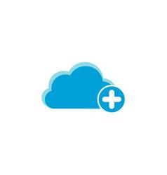 cloud computing icon plus icon vector image