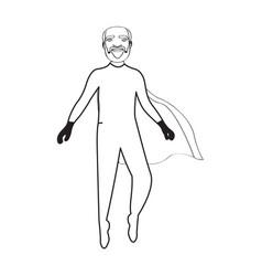 male superhero cartoon character sketch vector image