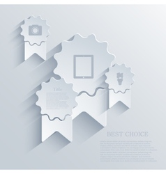 modern arrow riibbon background Eps 10 vector image
