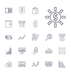 22 financial icons vector