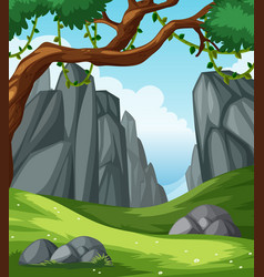 A flat nature landscape vector