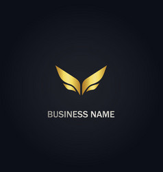 abstract wing design logo vector image