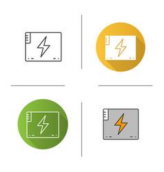 Accumulator battery icon vector