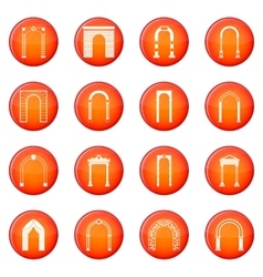 Arch set icons set vector