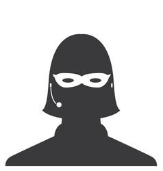 avatar head profile silhouette call center thief vector image