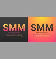Banner of social media marketing vector