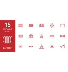 barrier icons vector image