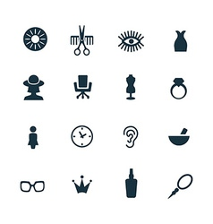 Beauty salon icons set vector