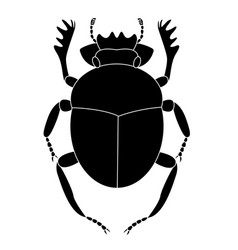 black beetle of a scarab on a white background vector image