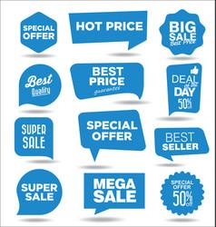 blue sale concept discount promotion stickers vector image