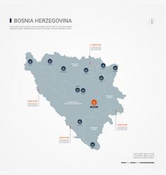 bosnia and herzegovina infographic map vector image