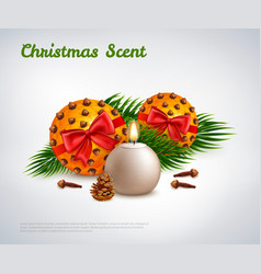 Christmas scent design concept vector