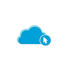 cloud computing icon cursor icon vector image