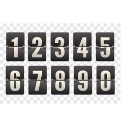Countdown flip board with scoreboard flip vector