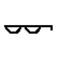 Creative of pixel glasses of vector