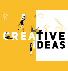 creative word concept creative ideas and people vector image