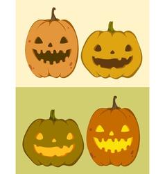 Cute pumpkin jack-o-lantern vector