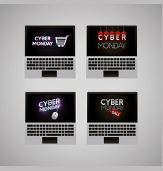 Cyber monday shop vector