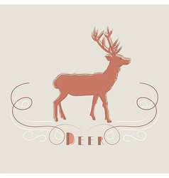Decorative of deer vector