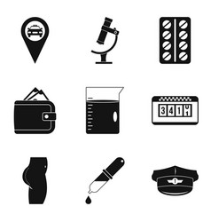 Elaboration icons set simple style vector