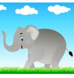 Elephant in the wild vector