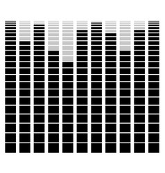 Eq equalizer element for music related design vector